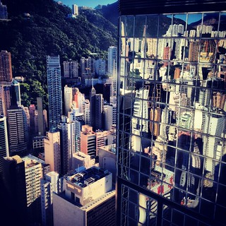 Wan Chai building reflections