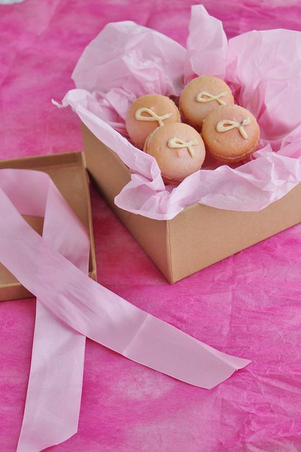 Breast Cancer Ribbon Macarons