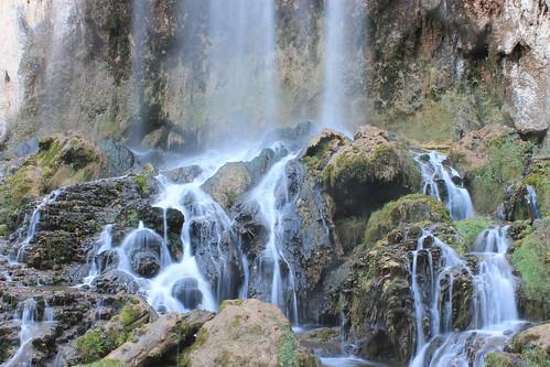 fall water canon waterfall rocks falling springs