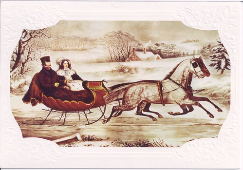 The Road Currier & Ives Christmas Card