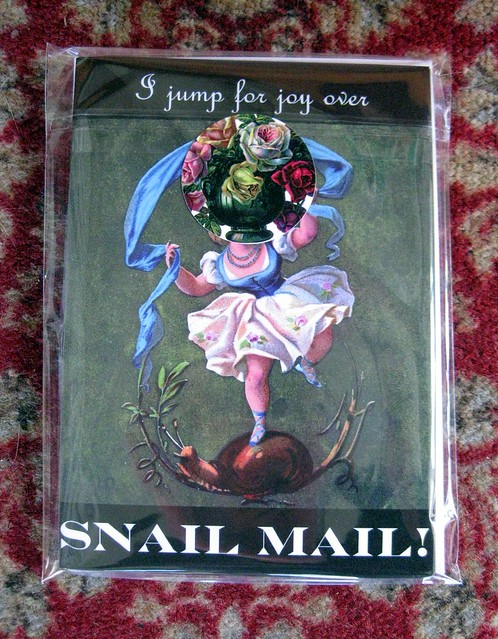 Notecards: I jump for joy over snail mail