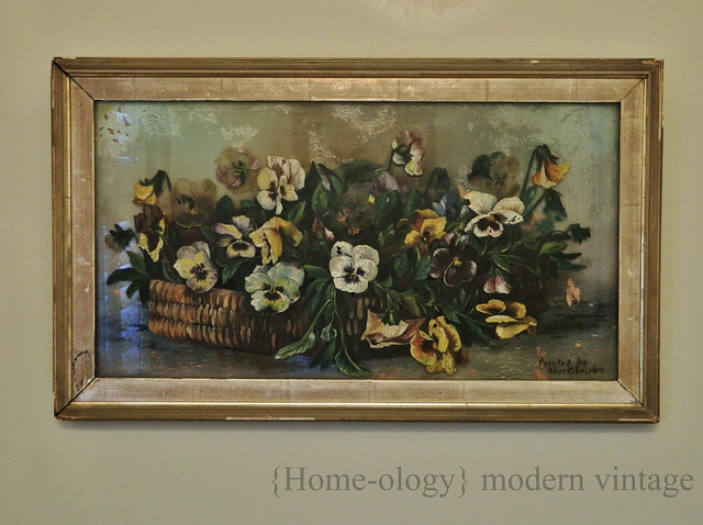 antique reversed painting on glass via homeologymodernvintage.com