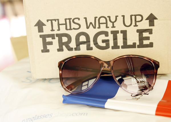 Sunglasses Shop packaging
