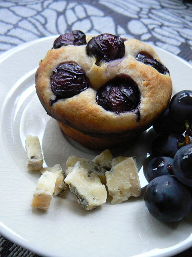 Coronation Grapes + Blue Cheese Muffins
