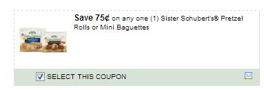 $0.75/1 Sister Schubert\