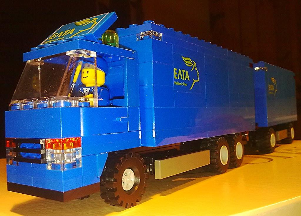 3 Axle - Greek Post Truck w 2 Axle Trailer