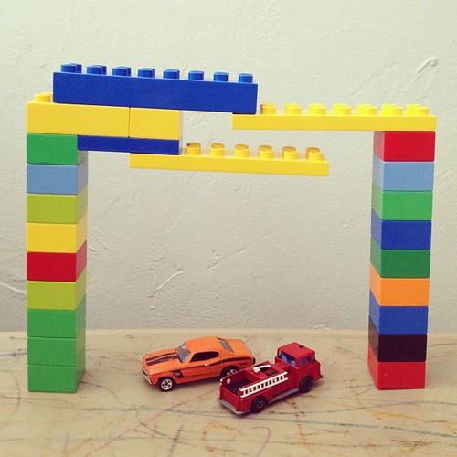 #lego parking garage for Zachary's #hotwheels