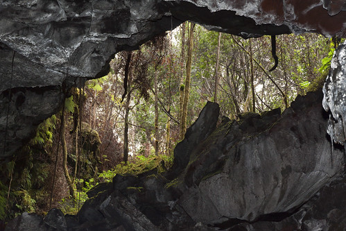 lava tube opening - inside out view