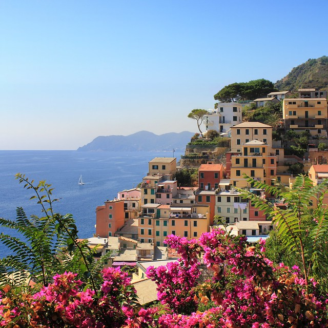 Summertime at Riomaggiore in the Cinque Terre National Park
