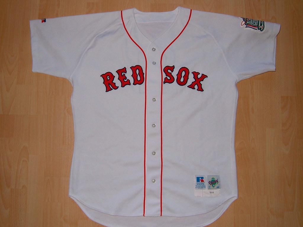 7675471c41f ... kirusgamewornjerseys Boston Red Sox 1999 home Game Worn Jersey