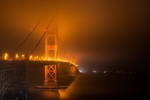 Witching Hour (Golden Gate Bridge), SanFrancisco by flatworldsedge