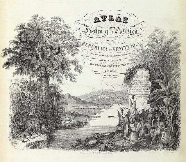 Atlas fisico y politico de la Republica de Venezuela 1840
