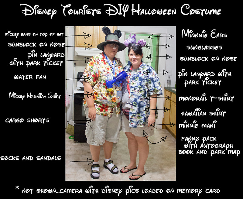 diney tourist diy halloween costume