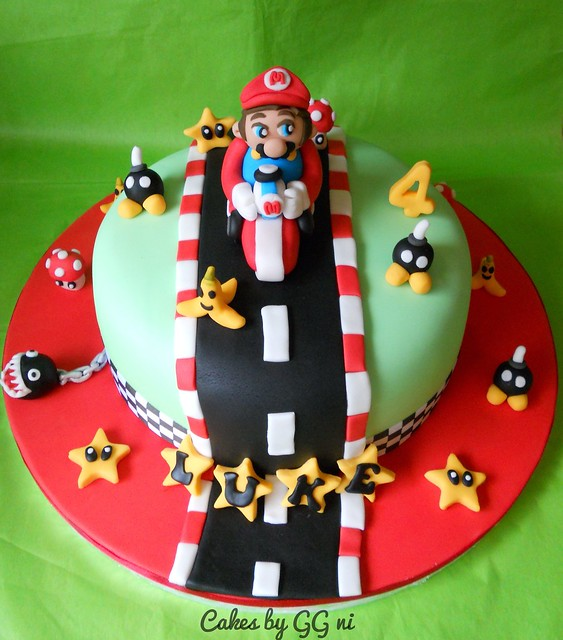 Mario Kart Super Mario Cake Topper Decoration Check Out