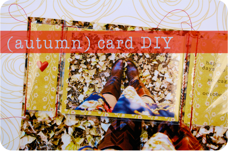 {diy} autumn card