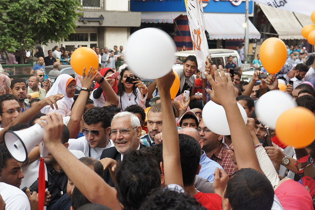 Abdel Moneim Abou El-Fotouh and his supporters in 20`2