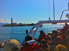 Leaving Race Rocks lighthouse & ecological reserve