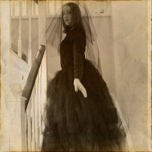 The woman in black. Or Fran, as she is more often known ;) #halloween