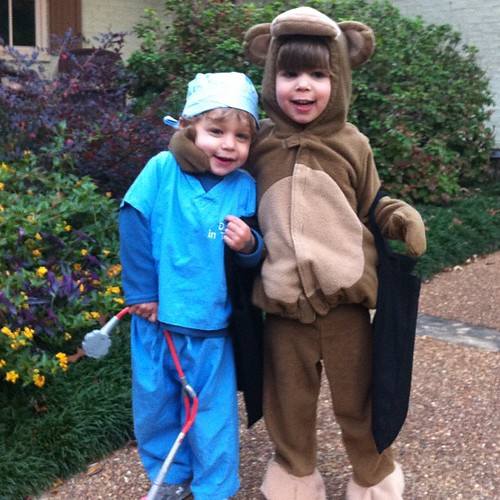 Dr. Spence and Curious George (again for the 2nd year in a row).