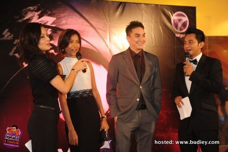 L-R Daphne Iking, Lisa Wong (ntv7 The Breakfast Show host), Adrian Jalaludin (TV Host), Nazrudin Rahman