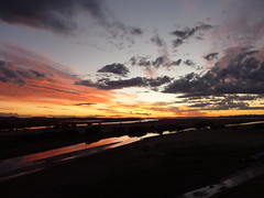 Stunning view from the Orange River Bridge at sunset in Bethulie