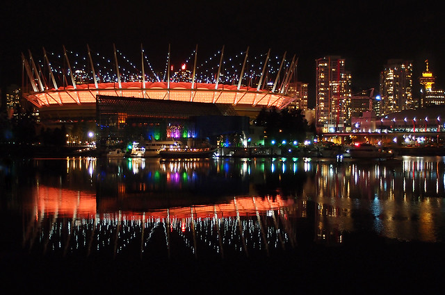 BC Place Glows the Colours of Fall