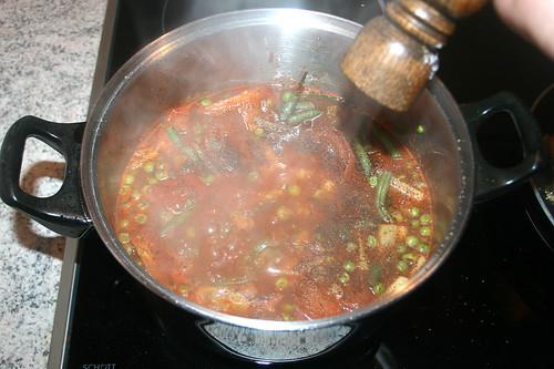 43 - Garnelen-Gemüse-Topf / Prawn vegetable stew - Mit Salz & Pfeffer würzen / Taste with salt & pepper