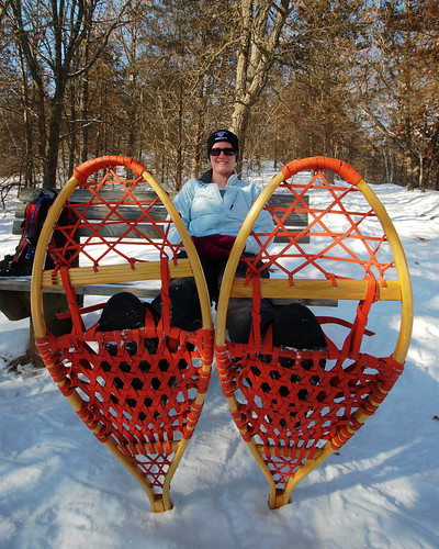 Sarah's Giant Snowshoes by dcclark