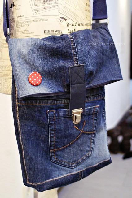 Kleid aus einer alten Jeanshose nähen