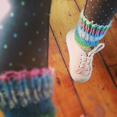 Knitted socks make me smile.