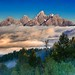 Tetons Above The Clouds by Jerry T Patterson