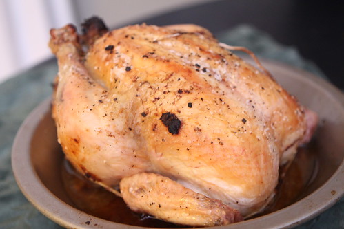 Roast Chicken with Meat Stuffing