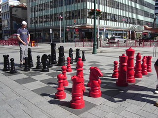 Chess set in Cathedral Square