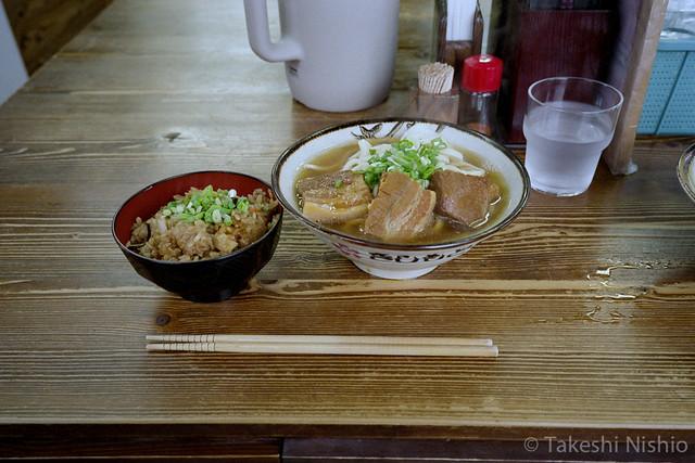 岸本そば(大)とじゅーしー / Kishimotosoba noodle & Jyucy rice