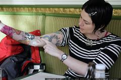 rachel's new tattoo   breakfast at mothers    MG 1740