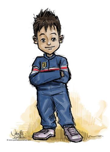 Porsche boy mascot sketch - round 3