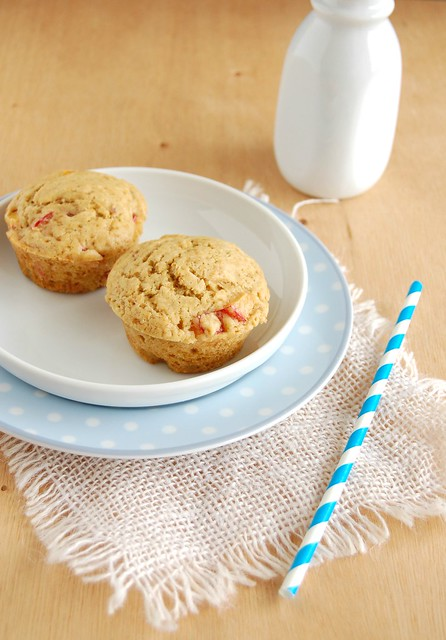 Ginger plum muffins / Muffins de ameixa e gengibre