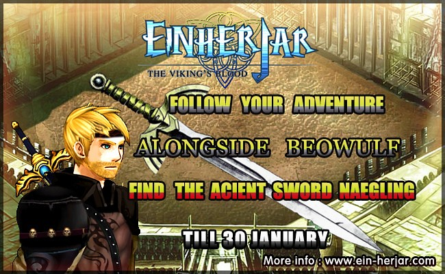 Continue adventure with Beowulf in Einherjar