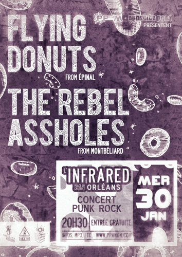 Flying Donuts + The Rebel Assholes