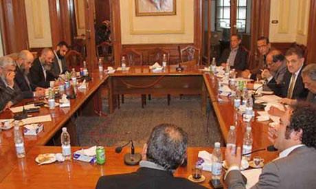 Egyptian meeting between the Nour Party and the National Salvation Front on January 31, 2013. A number of parties, religious groups and coalitions are holding dialogue aimed at resolving the political crisis. by Pan-African News Wire File Photos