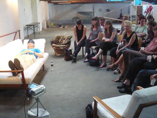 Sprechstunde von Stefan Beck zum Thema Austausch bei Familie Montez Juli 2009