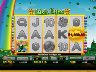 Irish Eyes Pick and Win Feature