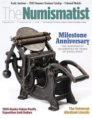 Numismatist january 2013 cover