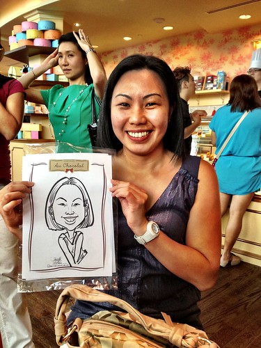 caricature live sketching for Au Chocolat Opening - Day 2 - 8
