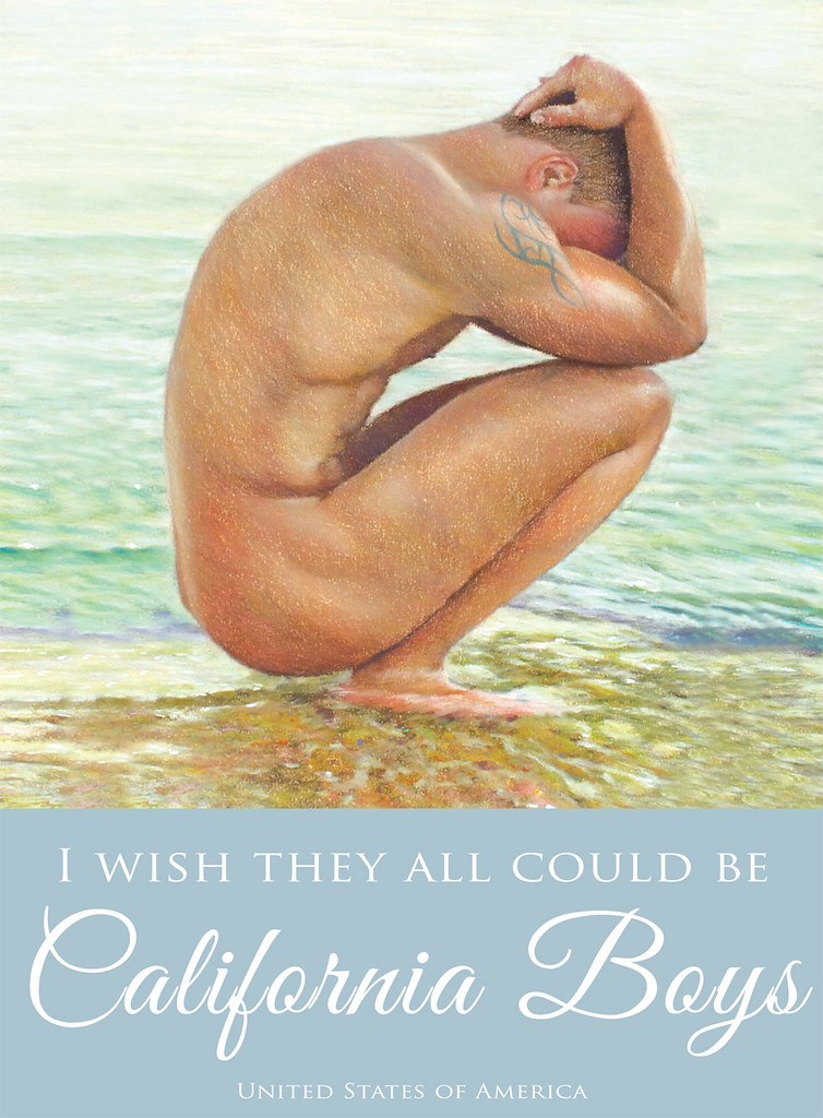 They All Could Be California Boys Nude Art Giclee Print Gay Interest