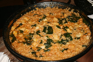 Chickpea, Spinach and Cod Paella