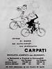 Werbung für Fahrräder der Marke Carpati aus rumänischer Produktion