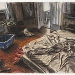 Bedroom; pastel, 22 x 30 in, 1987
