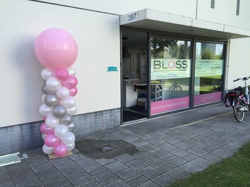 Ballonpilaar Breed Rond Schoonheidsinstituut Bloss Hoogvliet