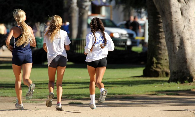 Keeping fit is a full time job in Santa Monica, California, USA